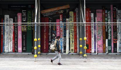 La Casa del Libro en la Gran Vía en Madrid durante la pandemia de coronavirus.