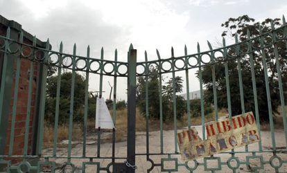Solar donde antes se ubicaba la fábrica de Uralita en Getafe.