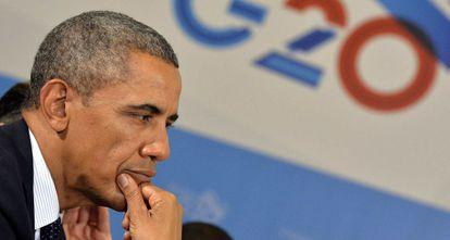 Obama, durante una reunión del G20.