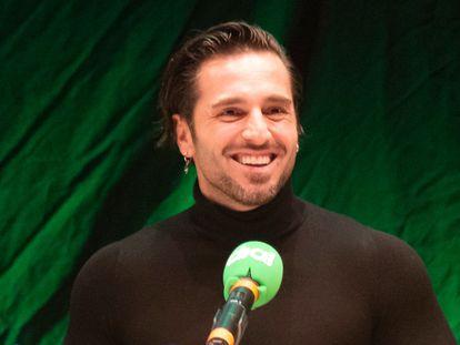 David Bustamante, en la emisión del programa de Cadena Dial 'Atrévete' en Torremolinos (Málaga) en febrero de 2021.