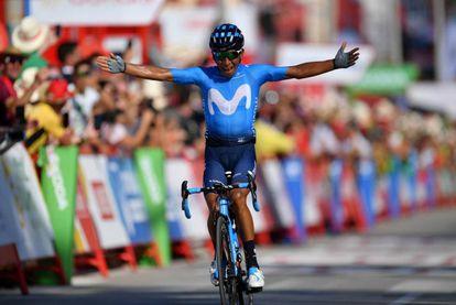 Nairo Quintana en una etapa de la Vuelta a España, el pasado agosto, cuando todavía corría con el Movistar.