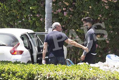 Jesús Escudero, uno de los miembros de la Manada al ser detenido.