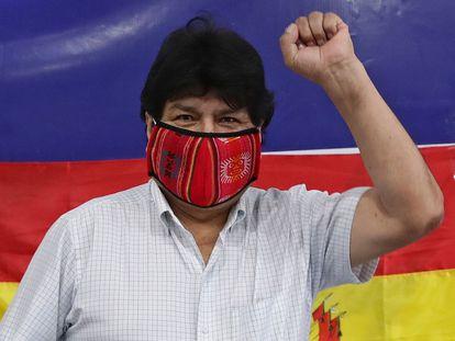 El expresidente de Bolivia Evo Morales, el pasado 18 de octubre, en un acto en Argentina.