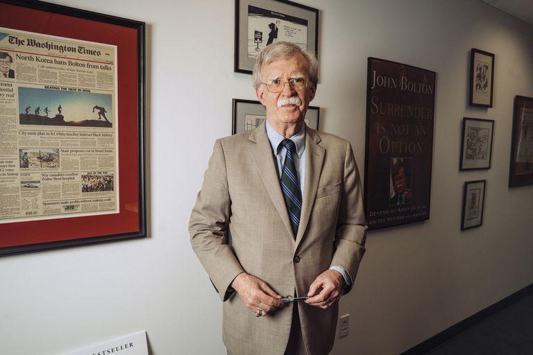 John Bolton en su despacho de Washington, el pasado martes.