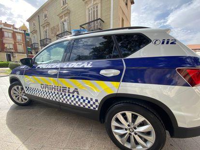 Un coche de la Policía Local de Orihuela.