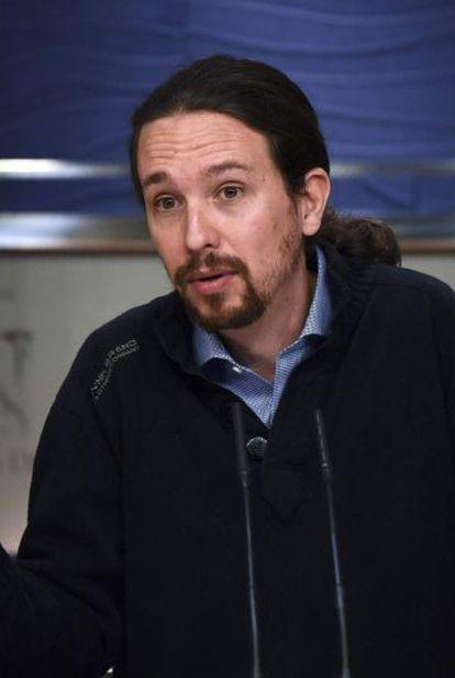Pablo Iglesias, de Podemos.