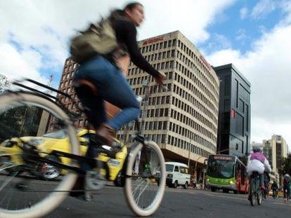 Los coches dejan de circular por un día en Bogotá este jueves.