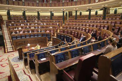 Sesión plenaria en el Congreso de los Diputados, el pasado jueves, marcada por la decisión del Gobierno de indultar a los presos del 'procés'.