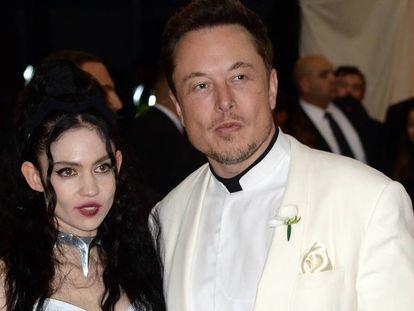 Elon Musk y Grimes, en la Gala del Met, en Nueva York, en mayo de 2018.
