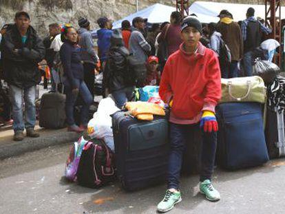 Más de 500.000 migrantes han cruzado en lo que va del año el paso fronterizo entre Colombia y Ecuador