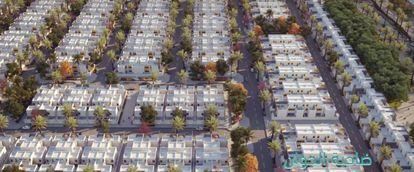 Captura del vídeo promocional sobre la urbanización Murcia.