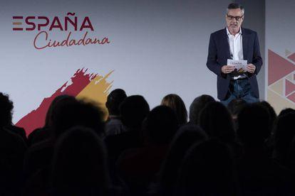 El secretario general de Ciudadanos, José Manuel Villegas, durante la convención