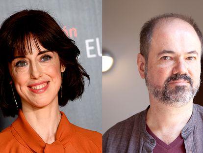 Los escritores Irene Vallejo y Juan Villoro.