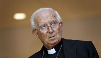 El cardenal y arzobispo de Valencia, Antonio Cañizares.