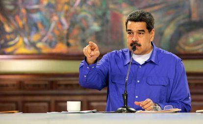 Nicolás Maduro, en el Palacio de Miraflores.