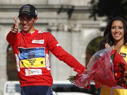 Contador, tras ganar la última Vuelta a España.