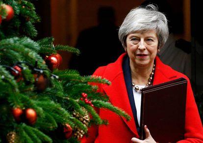 Theresa May, el pasado martes en Downing Street.
