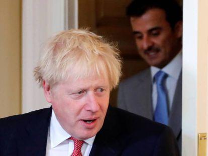 El primer ministro del Reino Unido, Boris Johnson, este viernes en Londres.