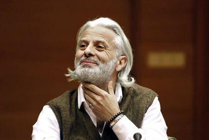 Marcos Benavent, el arrepentido del 'caso Taula', en la comisión de investigación de las Cortes Valencianas.