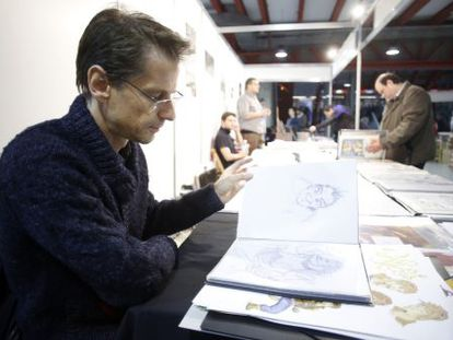 Frederic Niffle, editor de la revista Spirou, en Expocomic.