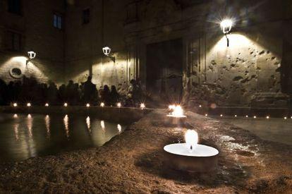 Ceremonia en memoria de las víctimas de Sant Felip Neri (Barcelona).