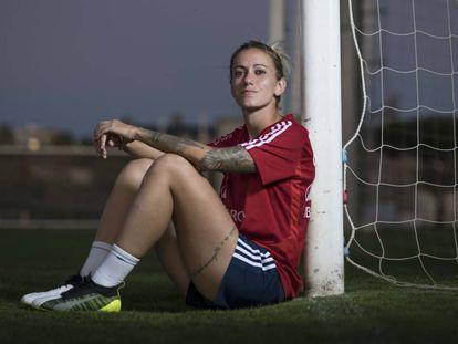 Ángela Sosa, en la Ciudad del Fútbol de Las Rozas.