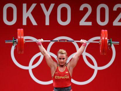 Lydia Valentin, este lunes durante la competición en el International Forum de Tokio.
