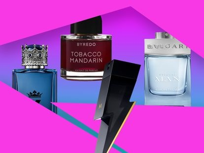 K by Dolce&Gabbana, Byredo Tobacco Mandarin, Bad Boy de Carolina Herrera y Bvlgari Man Glacial Essence.