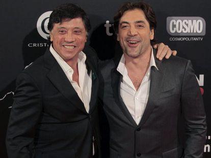 """Los actores Javier Bardem y Carlos Bardem, en el estreno de la película """"Alacrán enamorado"""", de la que son protagonistas."""