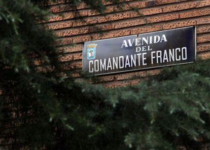 La avenida del Comandante Franco, en Chamartín.
