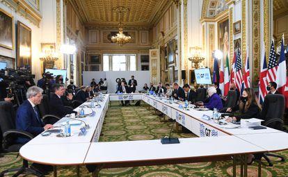 Reunión de los ministros de finanzas del G7 en Londres.