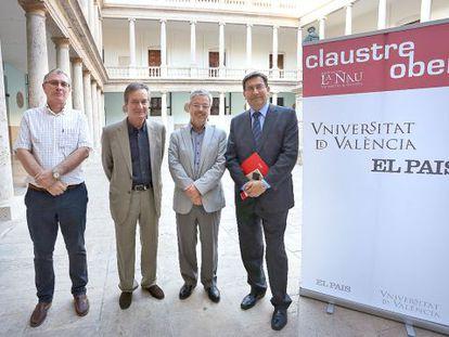 Joan Ramon Sanchis, Francisco Álvarez, Josep Torrent y Emili Villaescusa.