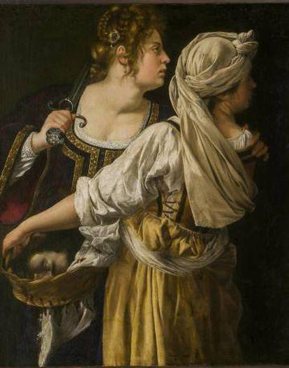 'Judith y su doncella' (1618-1619), óleo conservado en el palacio Pitti de Florencia.