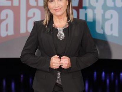 Julia Otero, en los Estudios Buñuel de TVE.