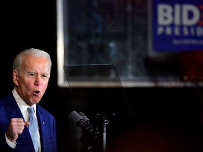 Joe Biden, este martes en Los Ángeles, California.