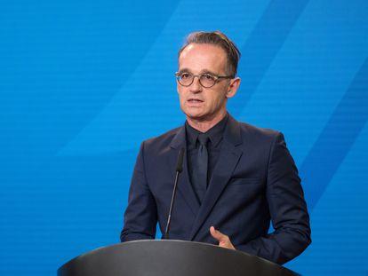 El ministro de Exteriores alemán, Heiko Maas, en Berlín el pasado 2 de septiembre.