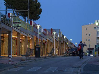 La calle Punta Ballena de Magaluf (Mallorca), en febrero.