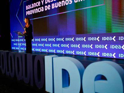 La gobernadora de Buenos Aires, María Eugenia Vidal, inaugura en Mar del Plata el coloquio de IDEA, el evento empresarial más importante del año en Argentina