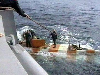Operaciones de rescate en un sumergible en el mar de Barents.