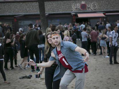 Algunos de los estadounidenses que han participado en el festival del AbroadFest.