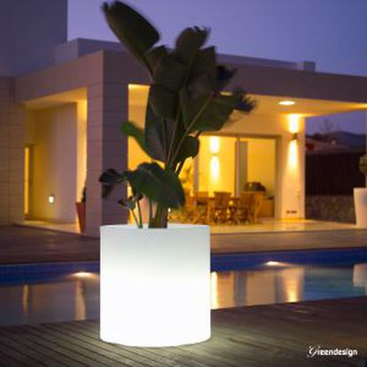Jardinera iluminada de Greendesign.