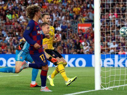 Griezmann, en el duelo ante el Arsenal.