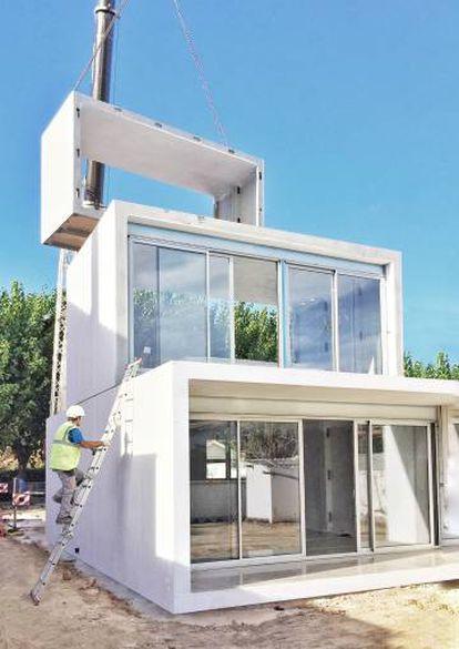 Vivienda de Smartliving en Sant Cugat del Vallès, cuyos módulos permiten ampliar o cambiar los espacios en un día.