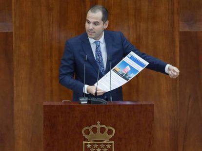 Ignacio Aguado en una intervención en la Asamblea de Madrid.