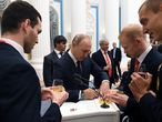 Moscow (Russian Federation), 13/09/2021.- Russian President Vladimir Putin (front 2-L) during an award ceremony for the Russian Paralympic Committee's medalists of the Tokyo 2020 Summer Paralympics at the Kremlin in Moscow, Russia, 13 September 2021. (Rusia, Moscú, Tokio) EFE/EPA/VALERIY MELNIKOV / KREMLIN POOL/ SPUTNIK MANDATORY CREDIT