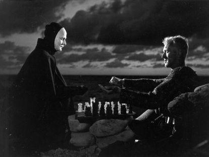 "Fotograma de la película ""El séptimo sello"", de Ingmar Bergman."