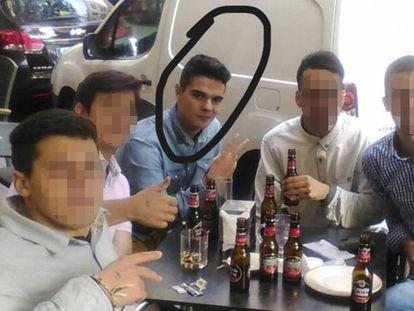 Alberto Sánchez, el parricida confeso, en una fotografía cedida por un amigo.