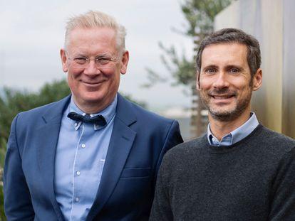 Augustinus Bader (a la izquierda) con Charles Rosier, consejero delegado de su marca de cosmética que en dos años ha facturado 60 millones de euros.