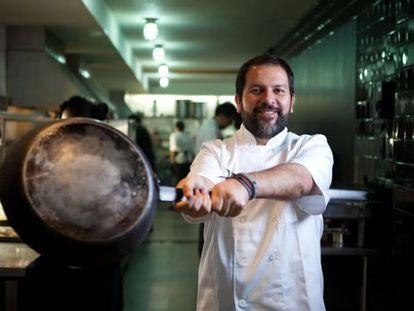 El chef Enrique Olvera en el restaurante Pujol, en 2013.