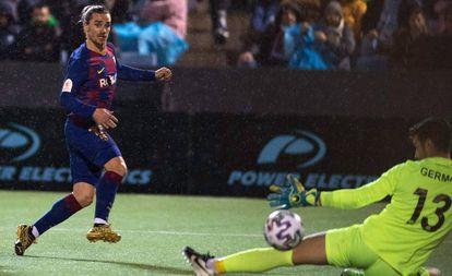 Griezmann marca el segundo gol del Barcelona ante el Ibiza.